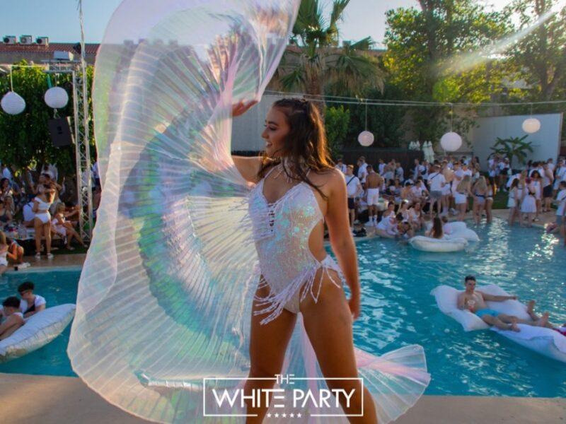 white party zante dancer